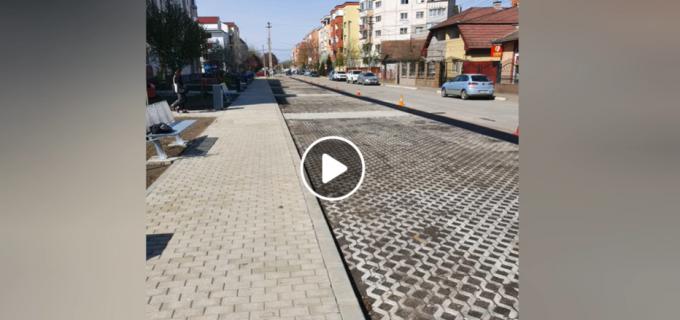 VIDEO: Parcarea de pe strada Gh. Barițiu din Câmpia Turzii a fost finalizată