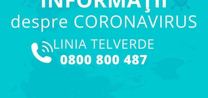 TELVERDE pentru informații despre CORONAVIRUS deschis la nivelul municipiului Turda