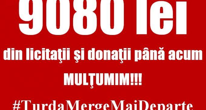 9080 lei s-au adunat până acum din licitații și donații în cadrul proiectului #TurdaMergeMaiDeparte