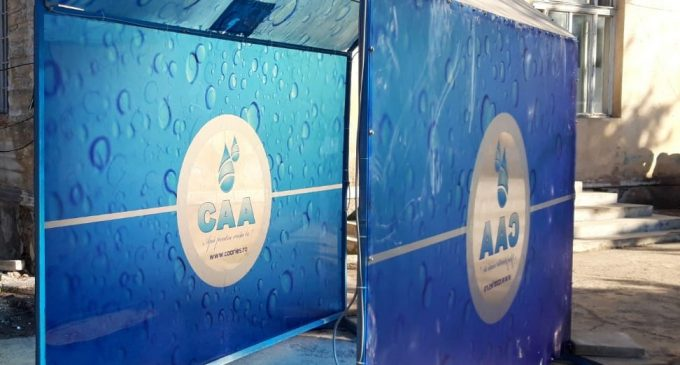 FOTO: Compania de Apă Arieș a montat o instalație de vaporizare cu dezinfectant la Spitalul Municipal Turda!