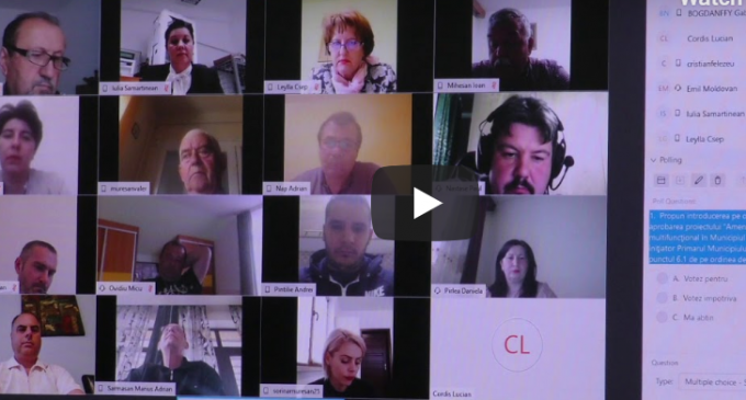 VIDEO: Ședința Consiliului Local Turda din data de 30 aprilie 2020