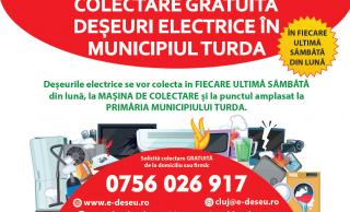 Serviciu GRATUIT de colectare de la domiciliu a deșeurilor electrice, electronice și electrocasnice la Turda