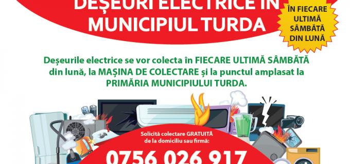 Primăria Turda: Vă reamintim de campania de colectare a deșeurilor periculoase (DEEE-uri)