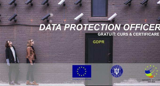 Curs ONLINE GRATUIT: training și certificare Responsabil Protecția Datelor – GDPR