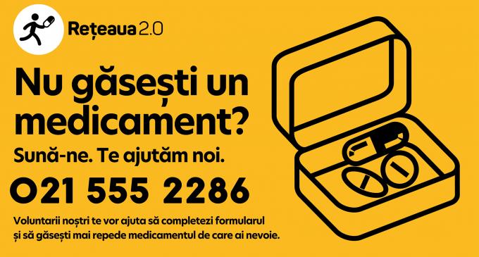 """Cauti un medicament și nu îl găsești? Te ajută """"Reteaua 2.0"""", un proiect nonprofit!"""