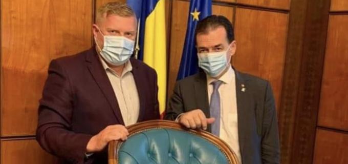 Dorin Lojigan, intalnire de lucru cu premierul Ludovic Orban