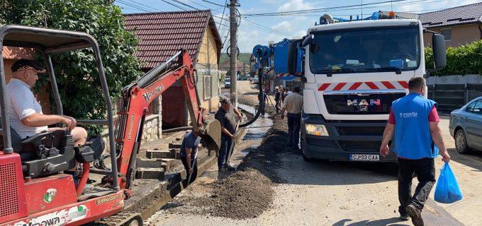Echipele de interventie, o zi și o noapte pe teren pentru a curăta străzile în urma furtunii din Turda