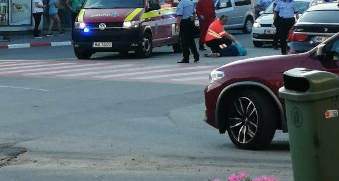 UPDATE: pieton accidentat pe strada Avram Iancu din Turda. Șoferul a fugit de la locul accidentului!