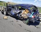 Accident intre un TIR si un autoturism pe autostrada Turda – Cluj