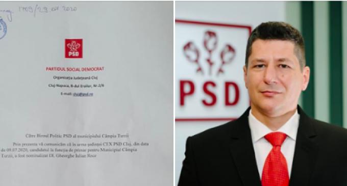 Decizia CEX a PSD Cluj: Gheorghe Iulian RECE – Candidat la funcția de Primar