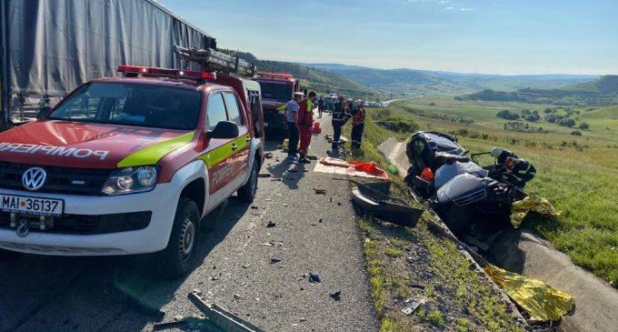 UPDATE: Accident rutier grav produs pe centura Vâlcele – Apahida. 3 persoane decedate!