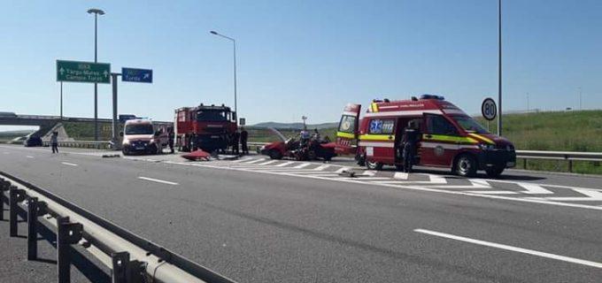 Grav accident rutier produs pe autostrada A3 la ieșirea spre Turda. O persoană decedată!