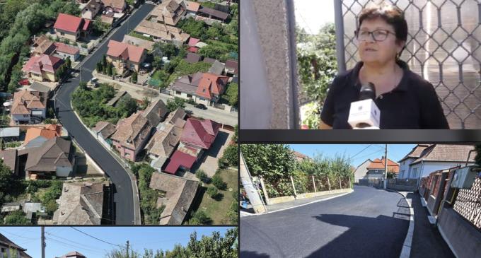 VIDEO: Strada Racului a fost modernizata complet