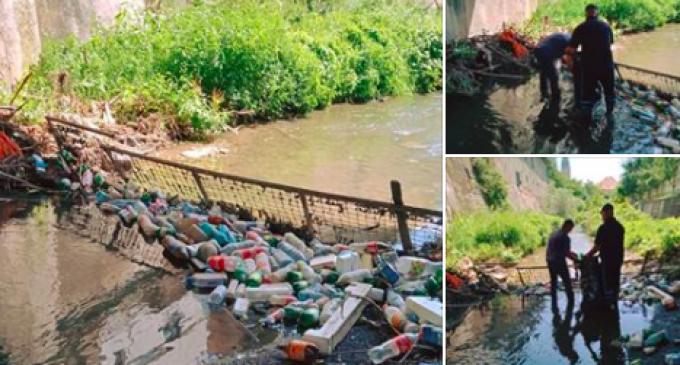 Serviciul Voluntar pentru Situații de Urgență Turda igienizează din nou pârâul Valea Racilor