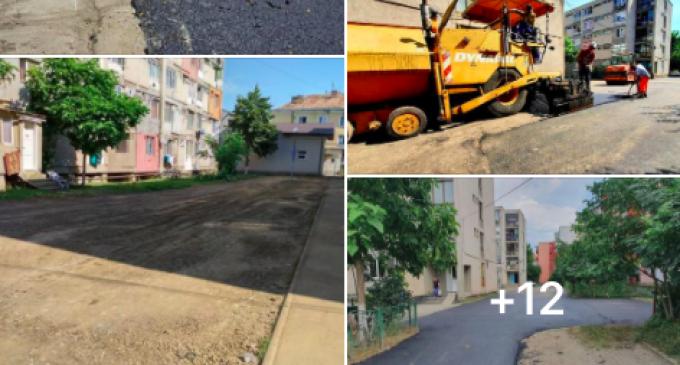 La Câmpia Turzii se lucrează la amenajarea zonei aferente străzilor Retezatului și Oțelarilor
