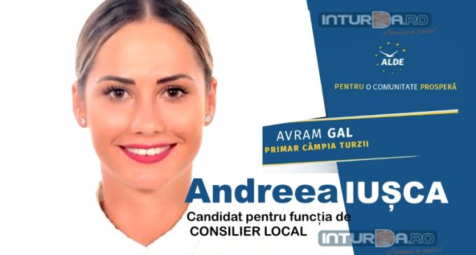 Andreea IUȘCA candideză pentru funcția de Consilier Local  #CampiaTurzii