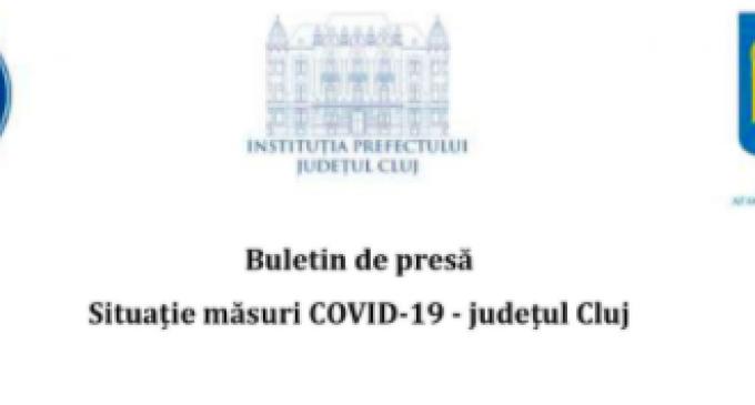 SITUATIE MĂSURI COVID-19 – JUDETUL CLUJ