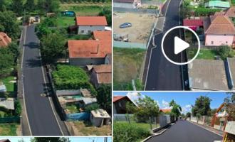 Foto/VIDEO: Încă o stradă din municipiul Turda a fost modernizată!