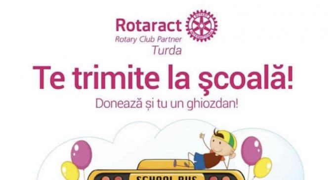 "Rotaract Turda deruleaza si anul acesta proiectul ""Rotaract te trimite la scoala"""
