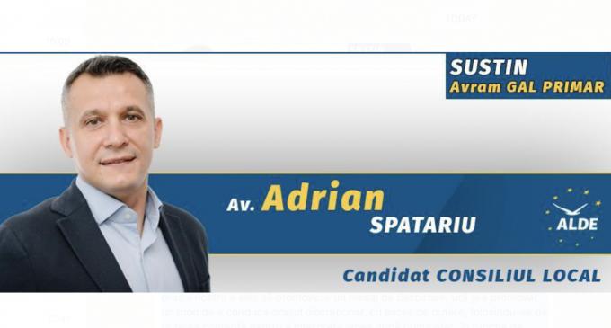 Adrian Spatariu: Cu toții avem datoria să ne exercităm dreptul de a vota cu scopul de a produce schimbarea pe care ne-o dorim în orașul nostru