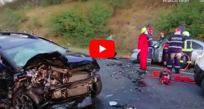 VIDEO. Tragedie la Cluj din cauza unei depășiri riscante. O femeie a murit, 4 persoane au fost rănite