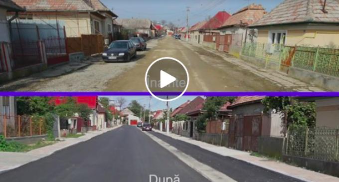 Matei Cristian: Au fost finalizate lucrările de modernizare și pe strada Vișinului. VIDEO