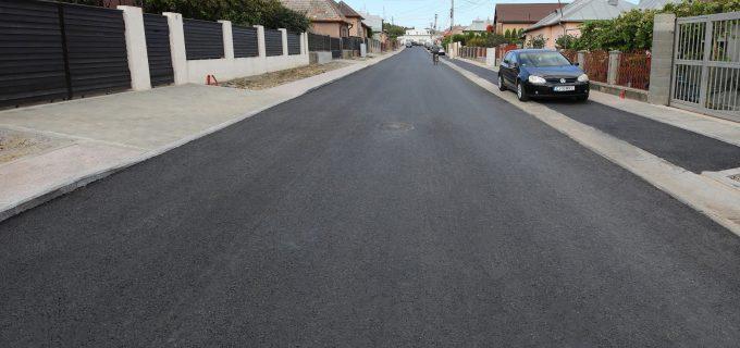 Încă o stradă modernizată în municipiul Turda. VIDEO