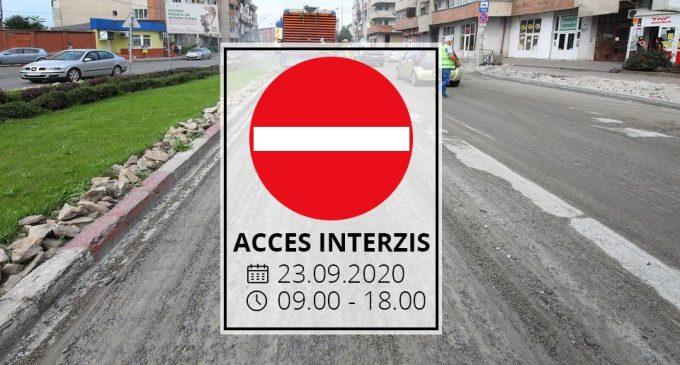Restricții de trafic, 23.09.2020 în intervalul orar 09:00 – 18:00, pe strada Libertății