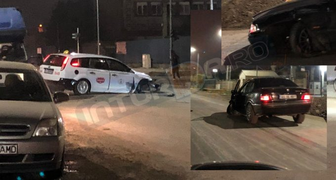 Foto: Accident rutier pe strada 22 decembrie din municipiul Turda