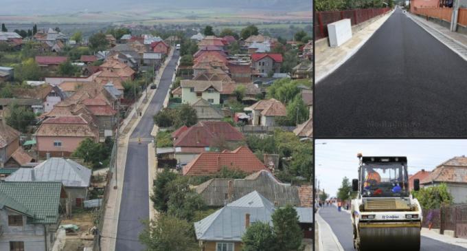 Avansează lucrările de modernizare în Cartierul Băi: S-a așternut primul strat de asfalt și pe strada Piersicului
