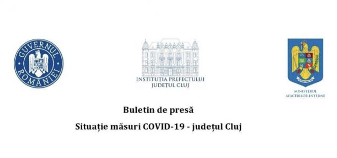 În ultimele 24 de ore, 273 persoane au fost confirmate Covid-19 din județul Cluj