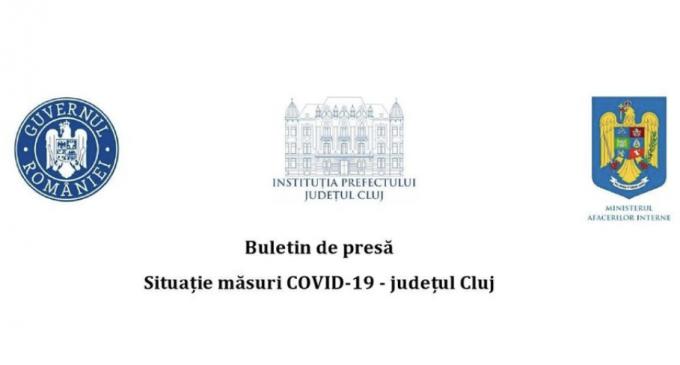 SITUAȚIE MĂSURI COVID-19 – JUDEȚUL CLUJ