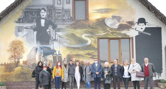 Dana Deac:  Azi s-a scris istorie la Turda! A fost inaugurată prima pictură murală stradală