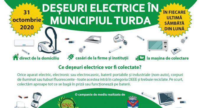 Primăria Turda: În data de 31 Octombrie 2020 are loc colectarea deșeurilor periculoase (DEEE-uri)