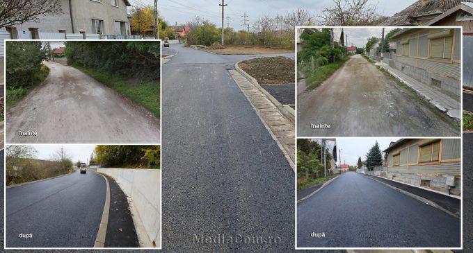 Proiectele adminstrației locale schimbă fața Turzii! Încă o stradă de pământ a fost complet modernizată