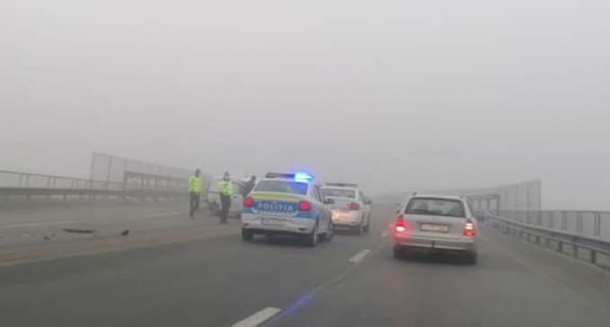 Foto: Accident rutier la intrarea pe centura Apahida-Valcele