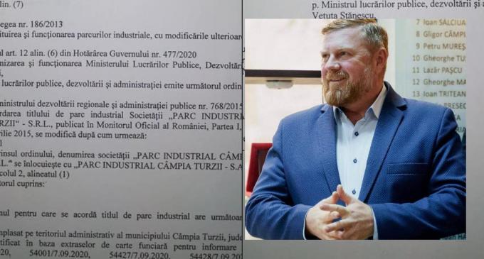 Primarul Dorin Lojigan: Parc Industrial de 10 hectare la Câmpia Turzii
