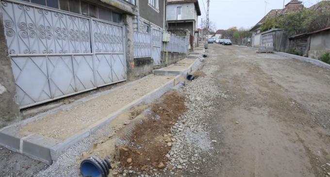 Lucrări de modernizare pe strada Cocoșului. VIDEO
