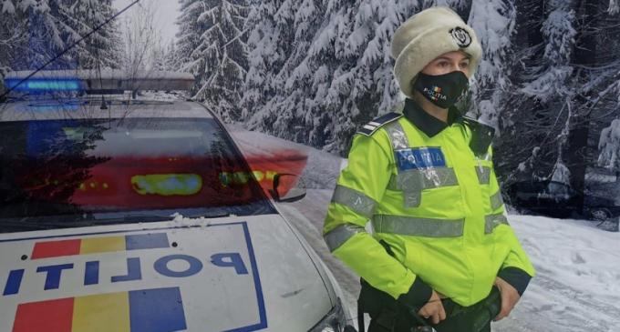 Poliția Rutieră: Echipează-ți autoturismul cu anvelope de iarnă