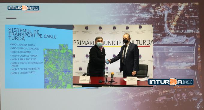 A fost semnat acordul de asociere pentru realizarea proiectului de investiții privind transportul urban și periurban pe cablu, între Consiliul Județean Cluj și Municipiul Turda
