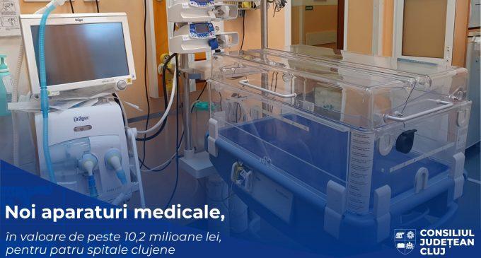 Noi dotări de ultimă generație, în valoare de peste 10,2 milioane de lei,pentru patru spitale clujene