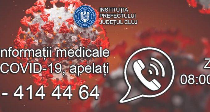 Linie telefonică specială –  Informații medicale despre COVID-19