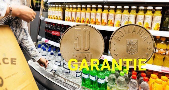 Românii vor plăti o garanție de 50 de bani pentru fiecare sticlă cumpărată