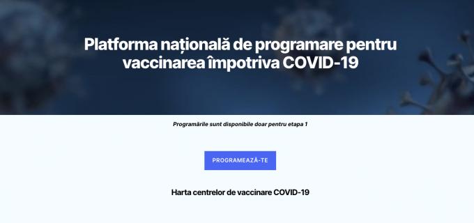 Platforma pentru programarea online la vaccinare – disponibilă de astăzi