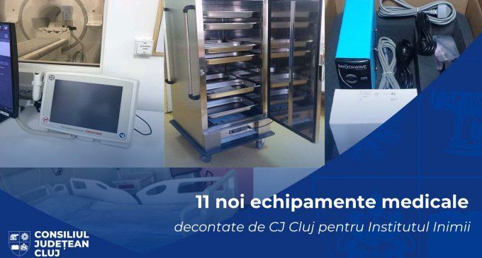 Consiliul Județean Cluj a finanțat achiziționarea a 11 echipamente medicale pentru Institutul Inimii