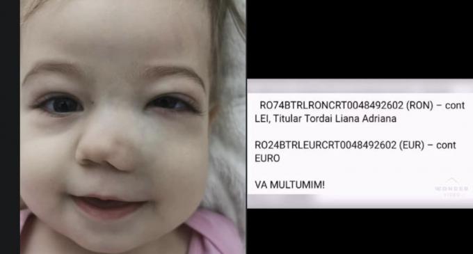 Micuța Victoria Maria a început prima ședință de chimioterapie