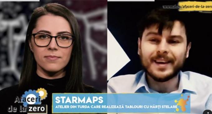 ZF.ro: Afaceri de la zero. Patru studenţi din Turda fac tablouri cu hărţi stelare. VIDEO