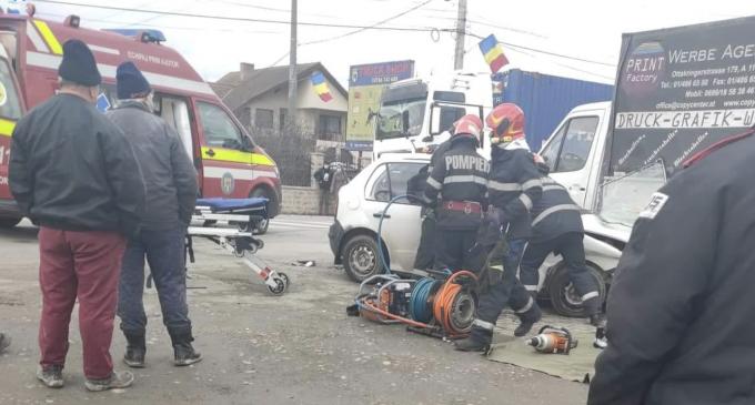 Video: ACCIDENT CU VICTIME în Gilău. A intervenit elicopterul SMURD