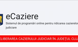 Programare online în vederea eliberării certificatelor de cazier judiciar
