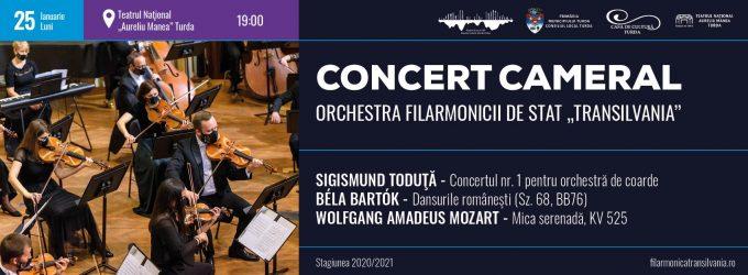"""Turda, 25 ianuarie: Concert cameral al Orchestrei Filarmonicii de Stat """"Transilvania"""""""